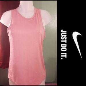 Size S Nike dri-fit pink running tank top